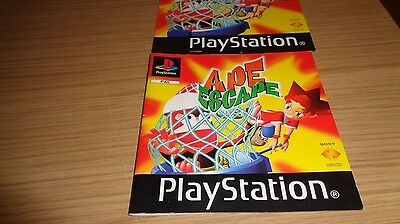Playstation Ape Escape manual and front cover art