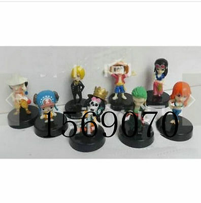 8pcs One Piece Super Styling Wanted Figurine Luffy Chopper