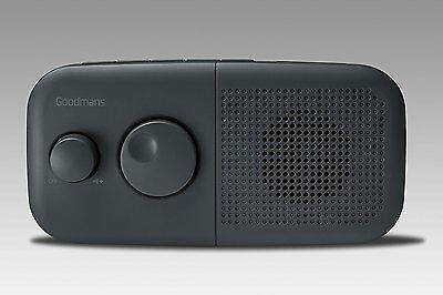 Goodmans Portable DAB & FM Digital Radio - Mains Or Battery - One Touch Preset