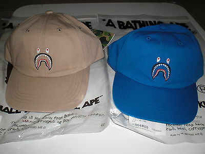 e57f0e8b0dc3a AUTHENTIC A BATHING APE BAPE SHARK CAP BLUE BEIGE NEW RARE -  129.00 ...