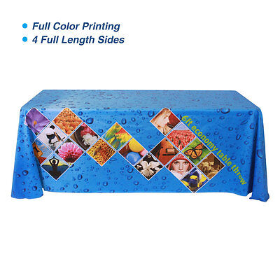 6ft Table Throws with Custom Dye-sublimation Full Color Printing, Rounded Corner