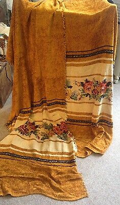 Pair Of Antique Chenille Curtains Late 1800s