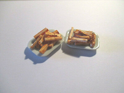 Dolls House Miniature Plate Of Chips