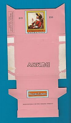 Old EMPTY cigarette packet Passing Clouds  Dummy #125