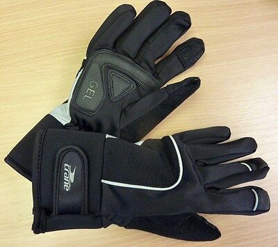 BNWT Winter Padded Cycling Gloves Black  Yellow Size Small