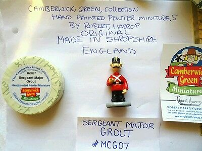 camberwick green miniature pewter figurine Sergeant Major Grout collectable