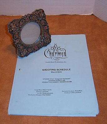 CHARMED Prop Picture Frame with Shooting Schedule