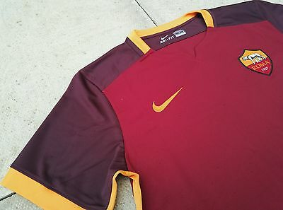 Nike AS Roma Home 2015/16 Mens Football Shirt Jersey Brand New Size M, L, XXL