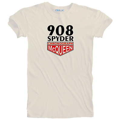 Vintage Steve McQueen Chronograph 908 Spyder Racing T-shirt Size Small to 5XL