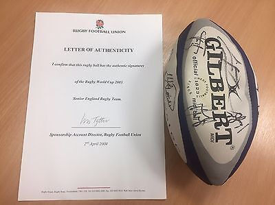 Rugby World Cup 2003 Signed Rugby Ball, With Rugby Football Union COA