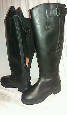 Kinpurnie Long leather riding boots size 4