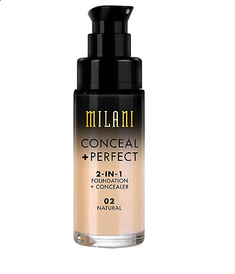 MILANI Conceal + Perfect 2-in-1 Foundation + Concealer-  Natural ( 02)