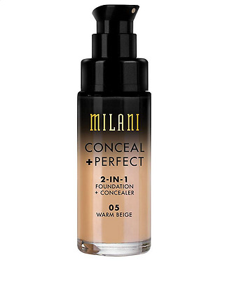 MILANI Conceal + Perfect 2-in-1 Foundation + Concealer-  Warm Beige (05)