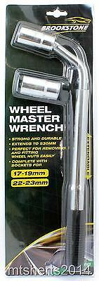 Brookstone Wheel Master Wrench + Adapters 17-19mm & 21-23MM BR330560 PE4