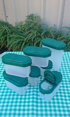 Three Tupperware Modular Mates One Large Two Small Spice Containers