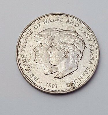 Queen Elizabeth II - One Crown Coin - 1981 - Charles and Diana - Royal Wedding