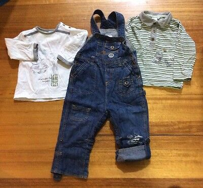 Boys Designer French Denim Outfit Size 18months