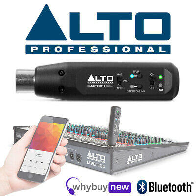 Alto Bluetooth Total XLR Equipped Rechargeable Wireless Bluetooth Audio Receiver