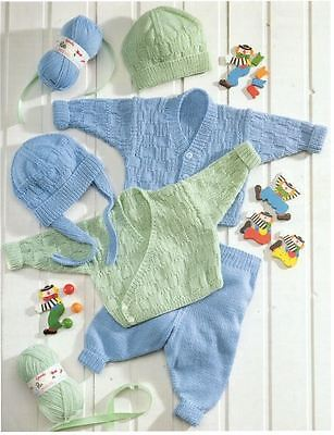 Knitting Pattern Baby/Child's DK Cardigans Leggings & Hat Preemie - 3 Yrs  (53)