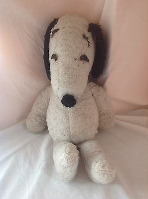 vintage 1960 's ? snoopy plush Made By Cypro Toys Needs Tlc