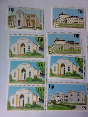Fiji  stamps    buildings to  $5 some with imprint date