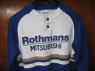 Rothmans Mitsubishi - original race team jumper! Made in England - Rally!