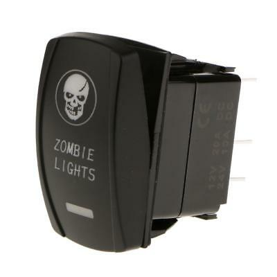 5 Pin Auto Barca Zombie Luce LED Bianco SPST ON-OFF Rocker Interruttore 12V