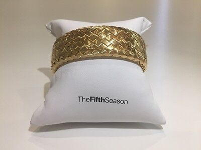 Roberto Coin Fifth Season 18Ct Gold Plated Weave Bangle