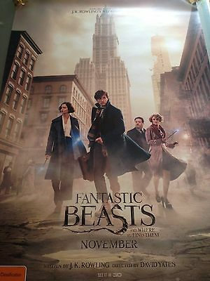 Fantastic Beasts and where to find them - one sheet movie poster