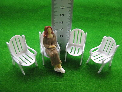 YZ2501 8pcs Model Railway Layout 1:25 Garden Chair G Scale NEW