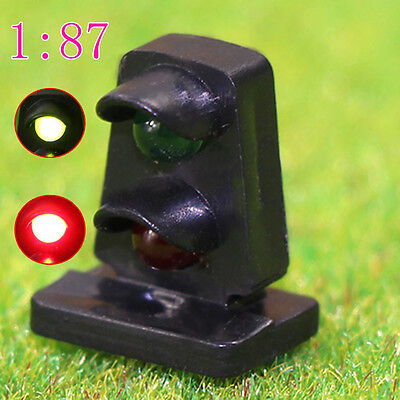 JTD872GR 5PCS HO scale LEDs made Dwarf Signals for Railway signal 2 Aspects