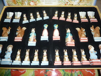 Studio Anne Carlton (SAC) A014 The World of Beatrix Potter Chess Set - Painted