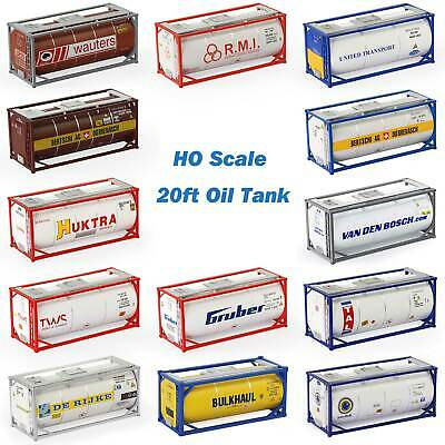 20ft Oil Tank Containers  Shipping Container Freight Cars HO Scale LOT