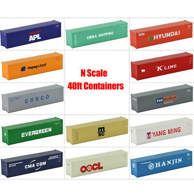 40ft Containers Shipping Container Freight Car N Scale Model Trains LOT