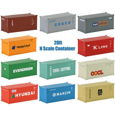 20ft Container Shipping Container Freight Cars N Scale Model Trains lot