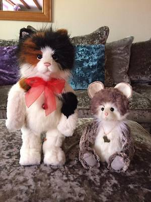 Charlie bears plush cat and mouse Pawline and Pepe