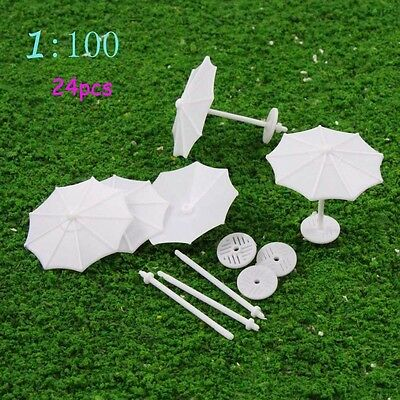 TYS02100 24pcs DIY Model Train parasol Vertical Simple Gifts 1:100 TT Scale New