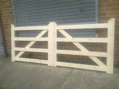 ***Heavy Duty*** 4 Bar Style Timber Driveway Gates