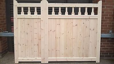 Heavy Duty 3/4 + 1/4  Kent Style Timber driveway gates 9ft wide x 5ft