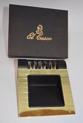 El Casco Block Container With Calendar in 23kt Gold and Black