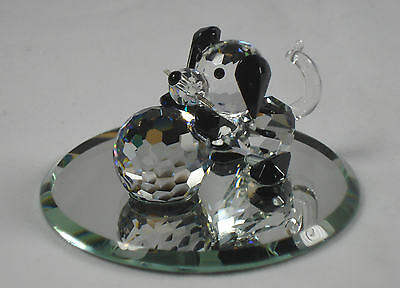Crystal Puppy With Ball - Dog Miniature Handcrafted With Swarovski Crystal