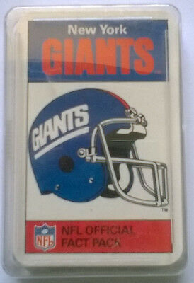 Ace NFL Official Fact Pack New York Giants RARE