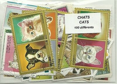 """Lot timbres thematique """" chats"""""""