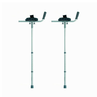 NRS Healthcare Arthritic Elbow Crutches with Trough Arm Supports - Pair