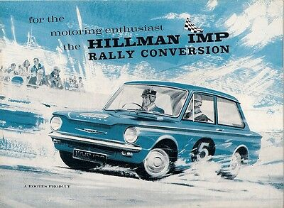 Hillman Imp Mk2 Rally Conversion 1965-66 UK Market Foldout Sales Brochure