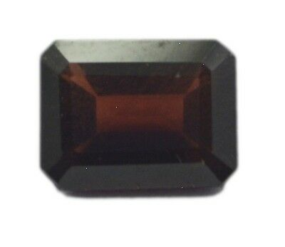 Emerald Cut Garnet 6X8 1 pc Faceted Red gems UK