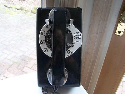 """Collectible Old Rotary Dial Wall Telephone - Bell - """"John Herr"""" Millersville, PA"""