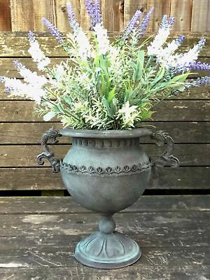 French Vintage Style Antique Metal Garden Planter Urn Flower Pot Vase Wedding