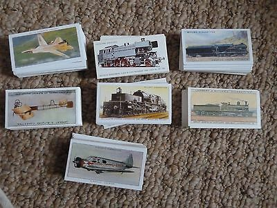 7 sets of cigarette cards reproduction