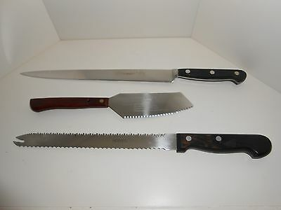 Hoffritz lot of 3 knife Top of the Line, frozen food knife Germany, All in One